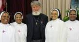CLEVELAND – USA –  Père Pedro Opeka en l'église Sainte-Marie de l'Assomption de Cleveland